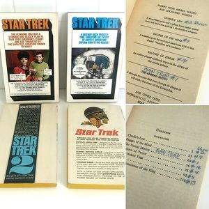 Vintage Accents - Vintage Star Trek sci fi paperback books set of 4